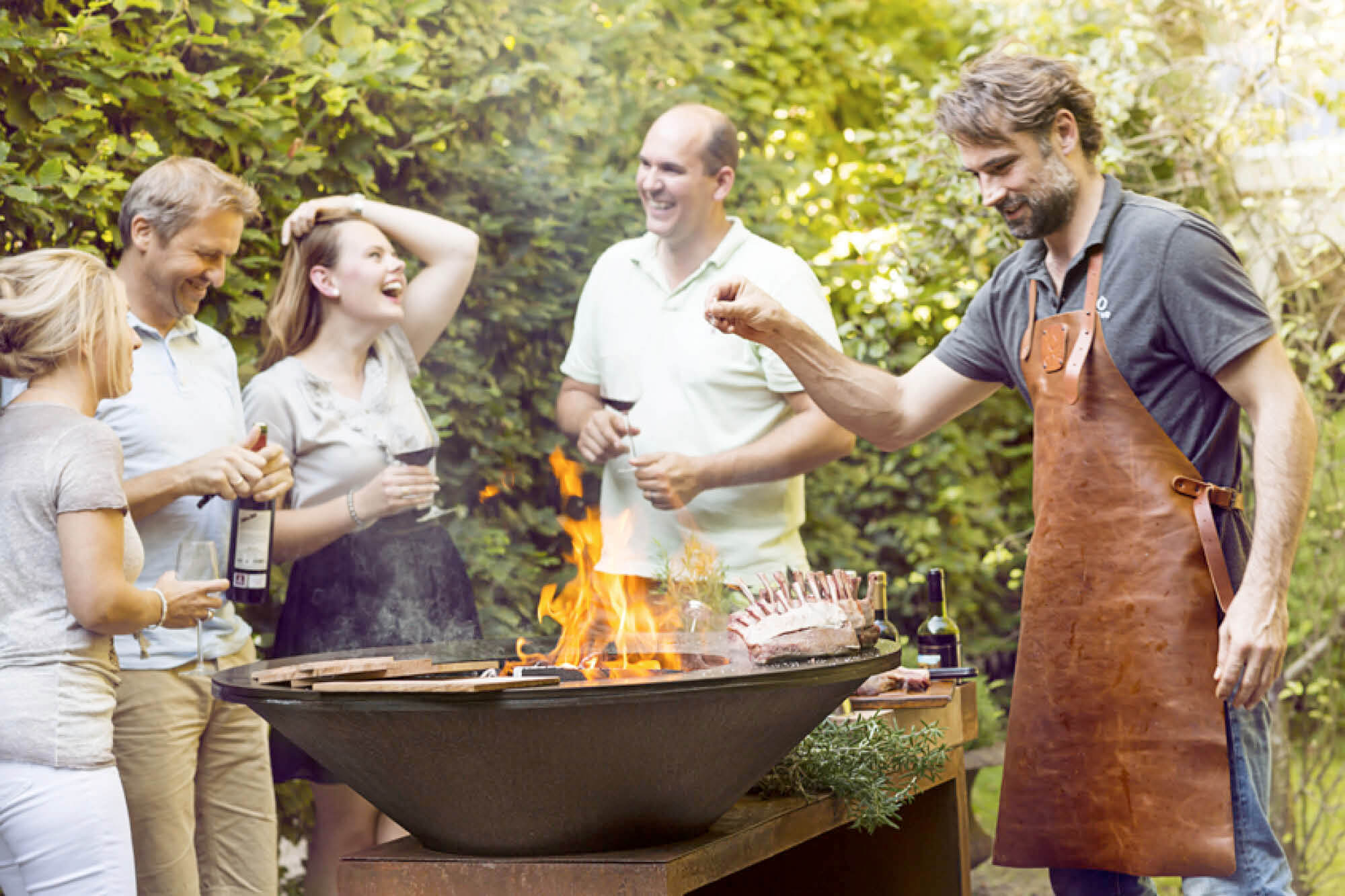 Grilování na ohništi Ofyr s osobním šéfkuchařem